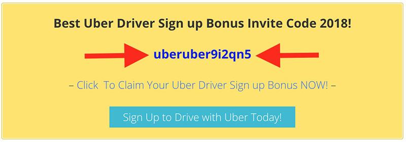 Uber driver sign up bonus promo code invite code